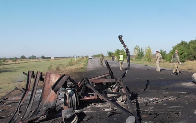 У Херсонській області прогриміли вибухи під час руху військової техніки