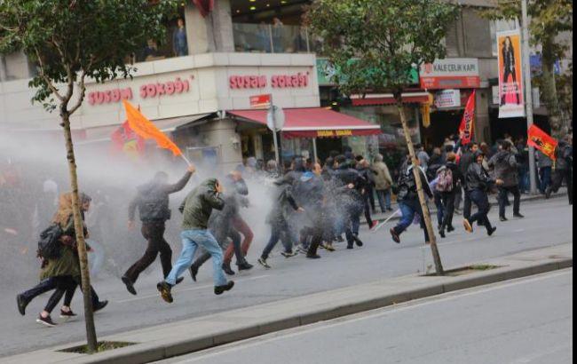 Фото: акция протеста в Стамбуле