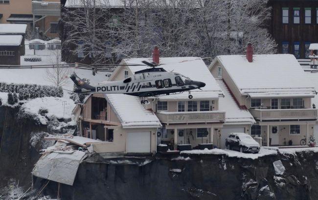 В Норвегии на третий день нашли тело погибшего от оползня