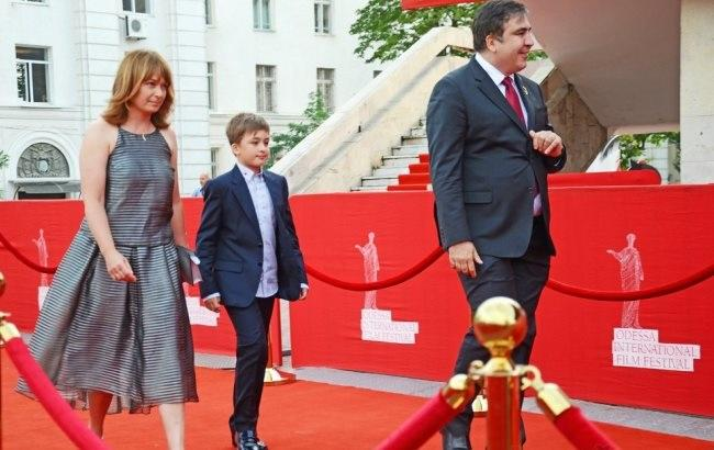 Михайло Саакашвілі вперше вийшов у світ зі своєю родиною в Одесі