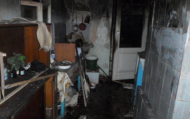 Фото: последствия пожара в доме Ровно (пресс-центр ГСЧС)