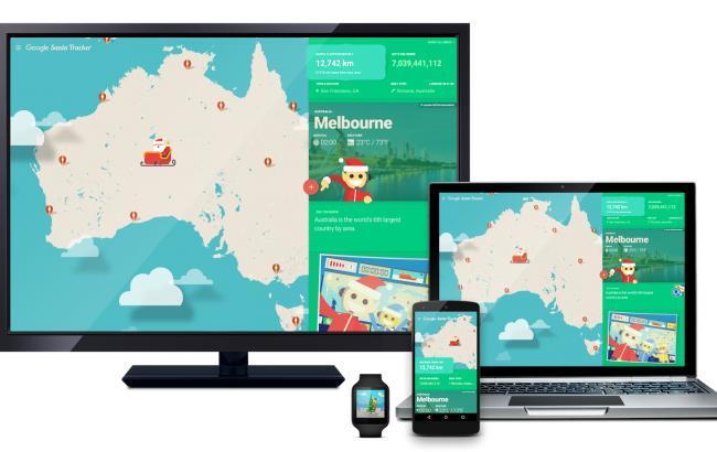 Фото: онлайн-сервіс про подорожі Санта-Клауса (Blogpost /GoogleBlog)