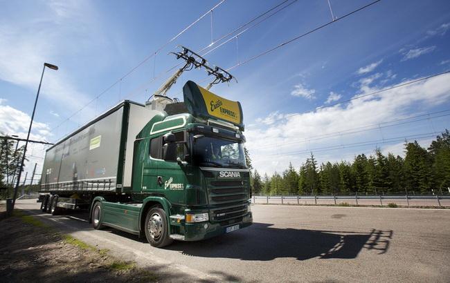"Фото: электрогрузовики от шведской компании ""Сканиа"" (пресс-служба Scania Group)"