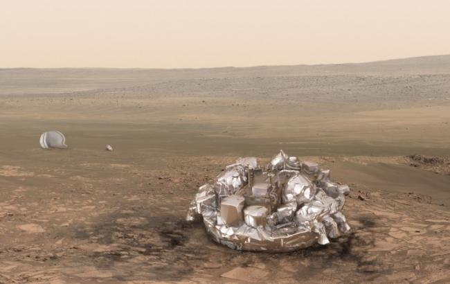 """Фото: Модуль """"Скиапарелли"""" скоро высадится на Марсе (ESA)"""