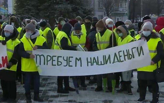 У Кам'янському двірники вийшли на мітинг через затримок по зарплаті