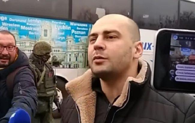 Звільнений Україною терорист виступив перед росЗМІ: буду продовжувати (відео)