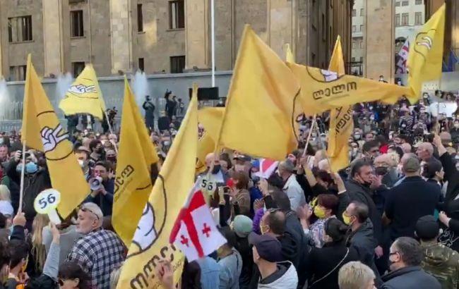 У Тбілісі почалися протести через результати виборів