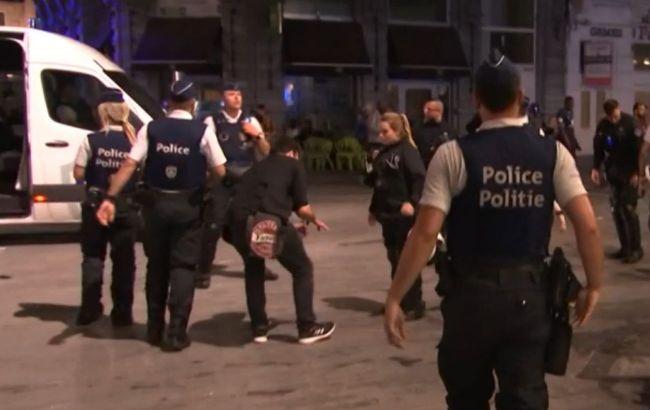 Поражение Бельгии на Евро-2020: в Брюсселе произошли беспорядки, в ход пошли водяные пушки