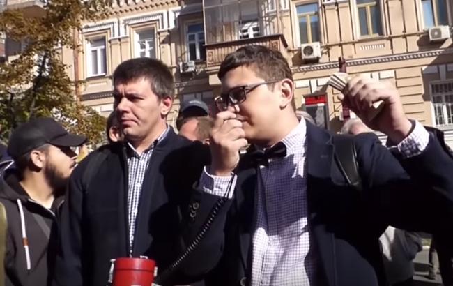 Скандальный украинский журналист перекупил участников митингов Рабиновича под Нацбанком