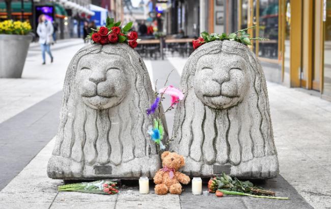 Фото: Место теракта в Швеции