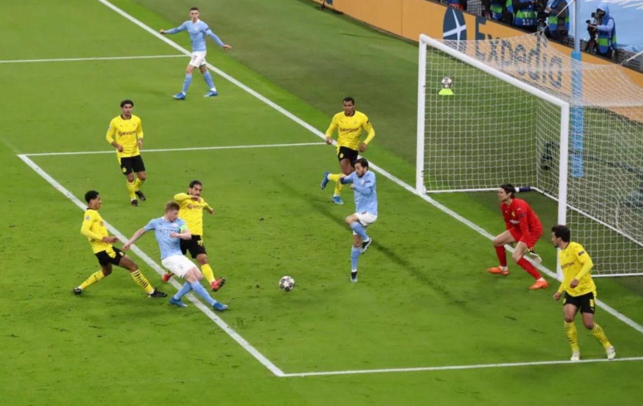 «Ман Сити» на последних минутах вырвал победу у «Боруссии». Зинченко в матче не играл