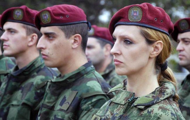 Фото: военнослужащие в Сербии протестовали против низких зарплат