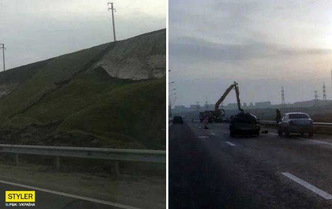 Насипи обрушилися: Кримському мосту загрожують нові неприємності (фото)