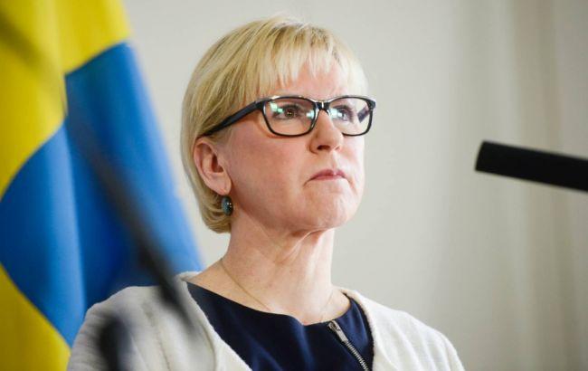 Фото: глава МЗС Швеції Маргот Вальстрем втретє відвідує Україну