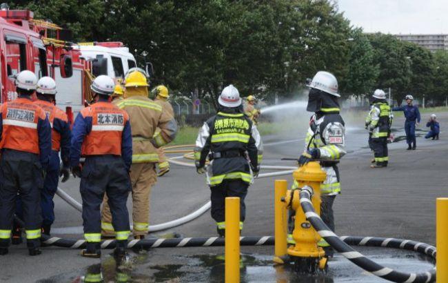 Фото: в Японии случился пожар на заводе