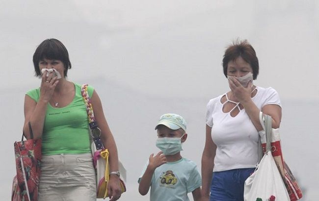Киев снова накрыл смог