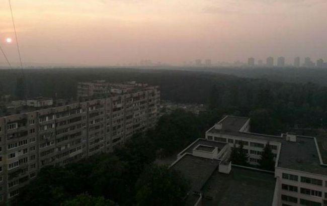 ГСЧС: Киев затянуло дымом из-за лесных пожаров около столицы