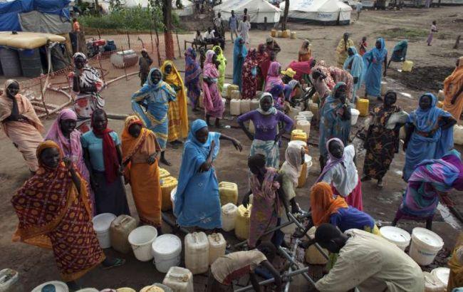 Фото: біженці в Судані