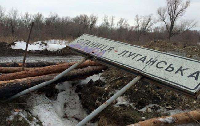 Боевики обстреляли пункт пропуска Станица Луганская, ранен пограничник