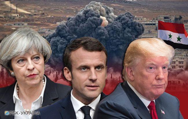 Трамп, Мей і Макрон заявили про необхідність відповісти на хіматаку в Сирії