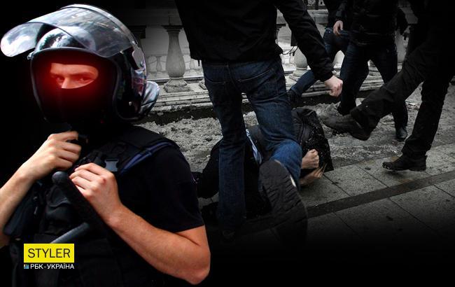 """""""В ход пошли """"розочки"""" и пистолет"""": в центре Киева произошла массовая потасовка (видео)"""