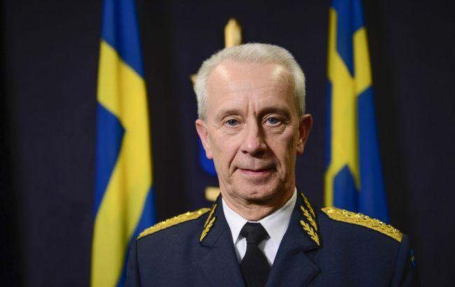 Фото: экс-командующий вооруженными силами Швеции генерал Сверкер Горансон