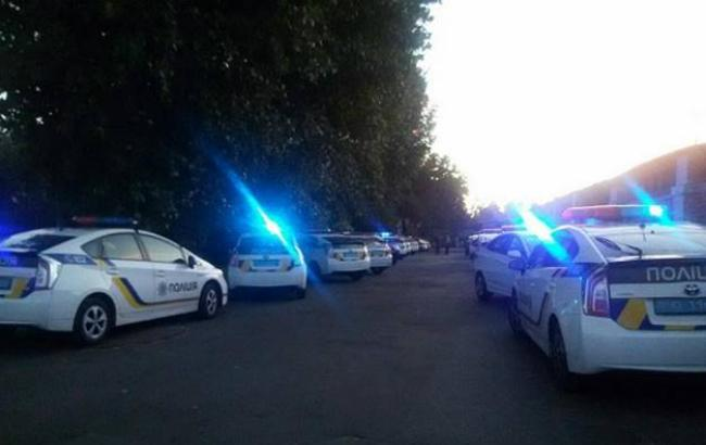 Фото: конфликт на стройке в Святошинском районе (отдел коммуникации полиции Киева)