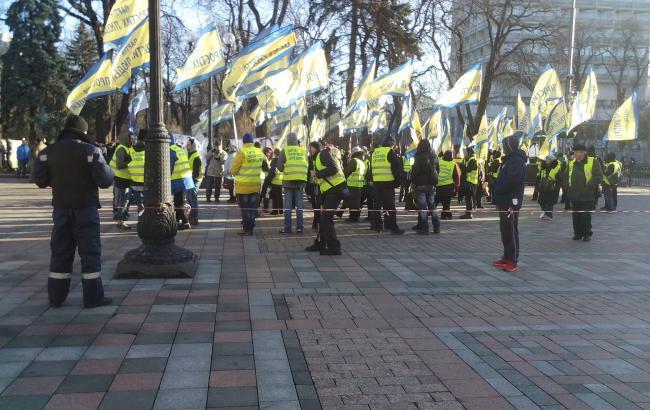 Фото: мітинг біля стін Ради 8 грудня (РБК-Україна)