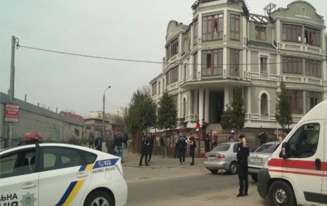 Фото: поліція на місці стрілянини в Києві (kyiv.npu.gov.ua)