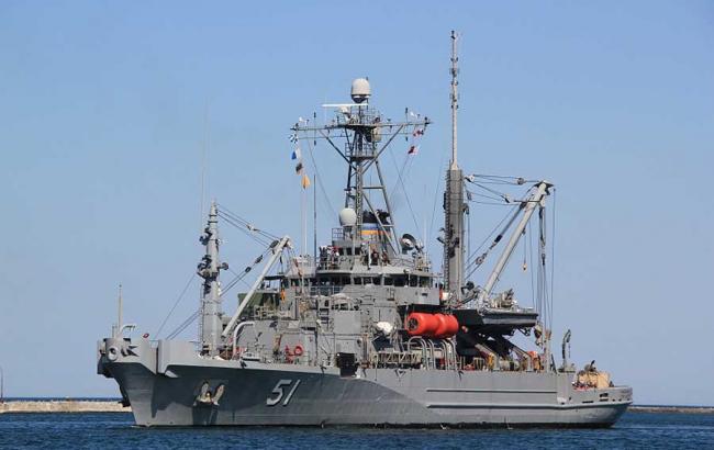 Фото: корабль ВМС США произвел три выстрела