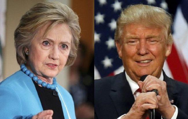Фото: Хиллари Клинтон и Дональд Трамп