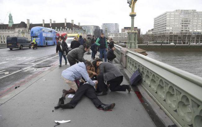Скончалась женщина, упавшая вТемзу впроцессе атаки террориста встолице Англии