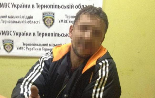 Фото: Затриманий в Тернополі злодій (npu.gov.ua)