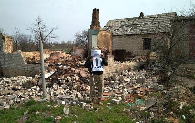 Фото: разрушенное здание (пресс-штаб АТО)