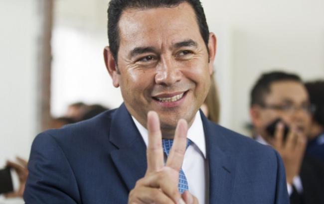 Фото: новый президент Гватемалы Джимми Моралес