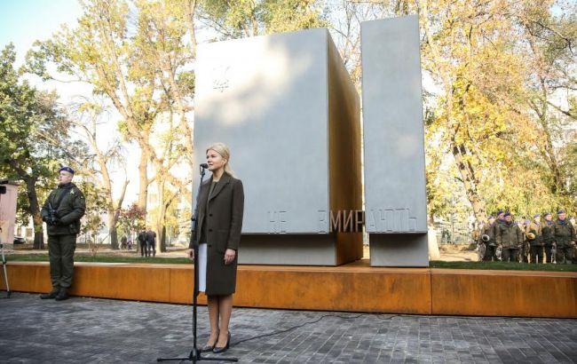 В Харькове открыли памятник защитникам Украины, - Светличная