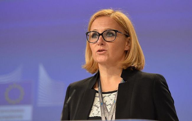 Фото: прес-секретар ЄС Майя Косьянчич