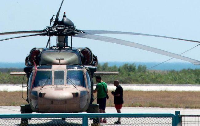 Фото: турецький гелікоптер у грецькому Александруполісі