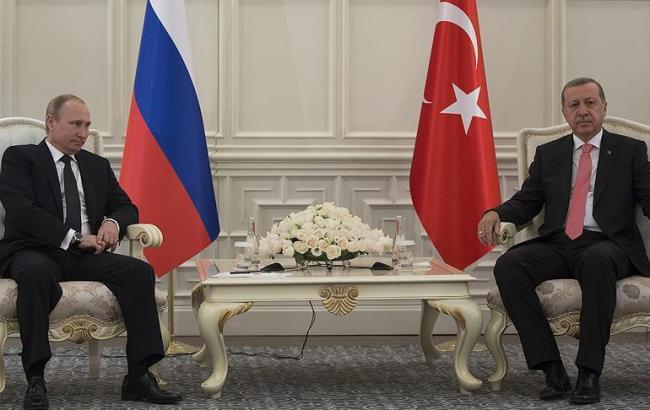 Фото: Владимир Путин и Реджеп Тайип Эрдоган
