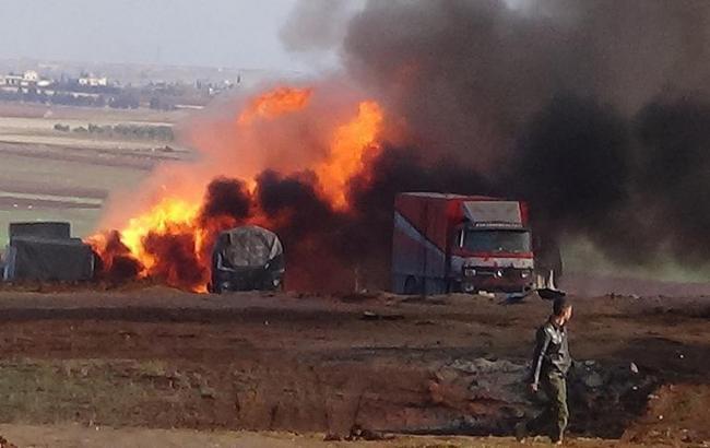 Авіація РФ завдала ударів по турецькому гумконвою в Сирії, є загиблі