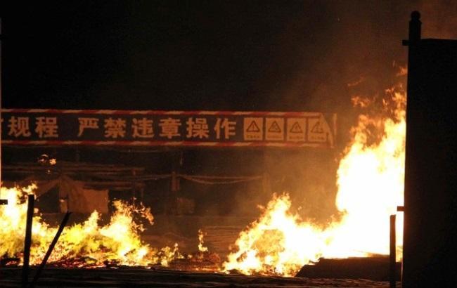 Взрыв в Китае: видео с беспилотника. Фото и видео