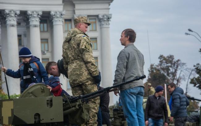 Выставка новейшей украинской военной техники