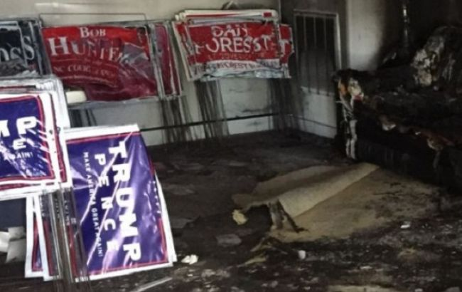 Фото: в США горела штаб-квартира Республиканской партии
