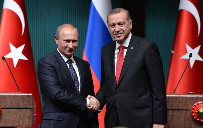 Фото: президенти РФ і Туреччини