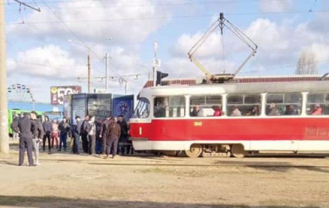Пассажиры в Харькове заблокировали трамваи