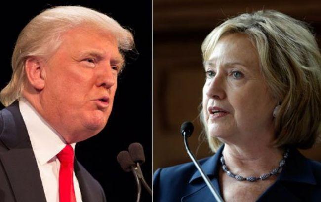 Фото: Клинтон опережает Трампа в президентской гонке