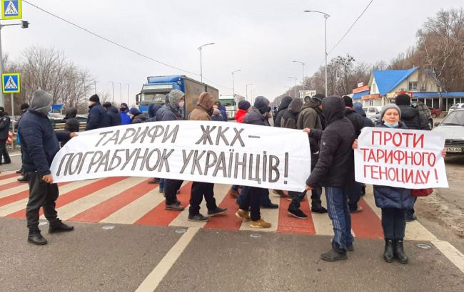 В Полтаве протестуют из-за тарифов на газ. Движение на трассе Киев-Харьков перекрыто