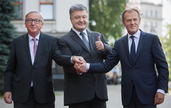 Фото: Юнкер, Порошенко и Туск на саммите Украина-ЕС (president.gov.ua)