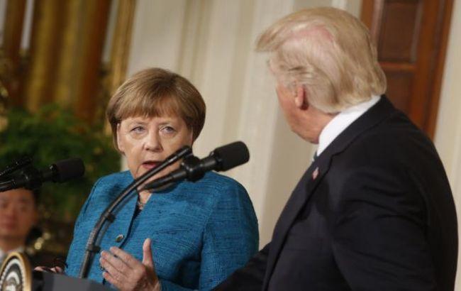 Фото: Ангела Меркель и Дональд Трамп провели телефонный разговор