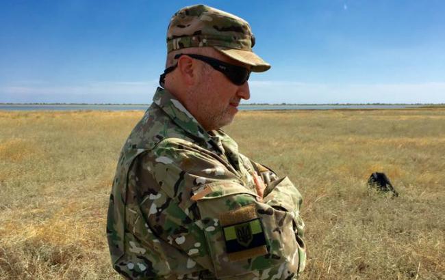 Фото: секретарь Совета национальной безопасности и обороны Украины на полигоне (Facebook /Yuri.Biriukov)